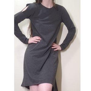 Gray long sleeved dress